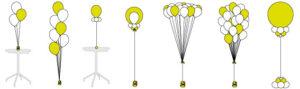 Helium Gevulde Decoratie Communie