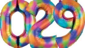 Cijfers Regenboog kleuren