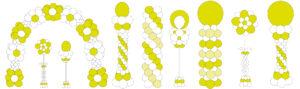 Lucht Gevulde Decoraties Communie