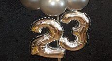Folie Leeftijd Cijfers Toevoegen Aan Bubble Ballon